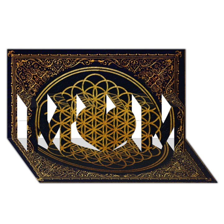 Bring Me The Horizon Cover Album Gold MOM 3D Greeting Card (8x4)