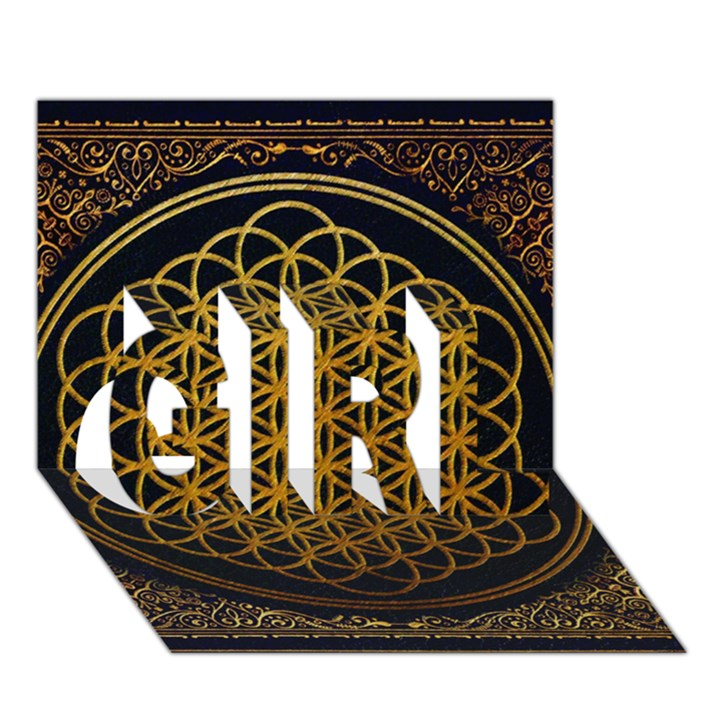 Bring Me The Horizon Cover Album Gold GIRL 3D Greeting Card (7x5)