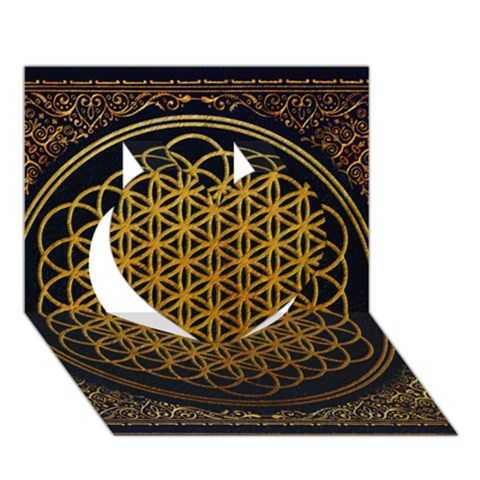 Bring Me The Horizon Cover Album Gold Heart 3D Greeting Card (7x5)