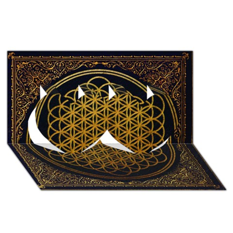 Bring Me The Horizon Cover Album Gold Twin Hearts 3D Greeting Card (8x4)