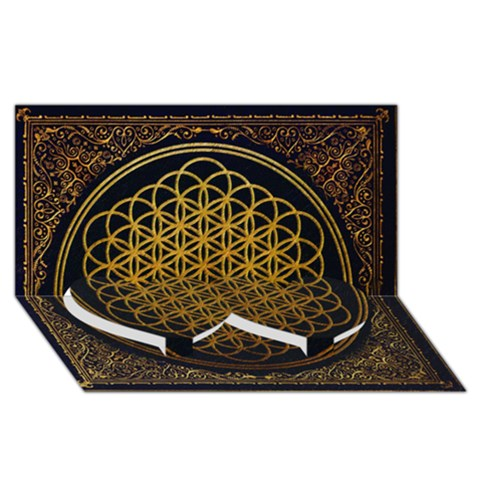 Bring Me The Horizon Cover Album Gold Twin Heart Bottom 3D Greeting Card (8x4)