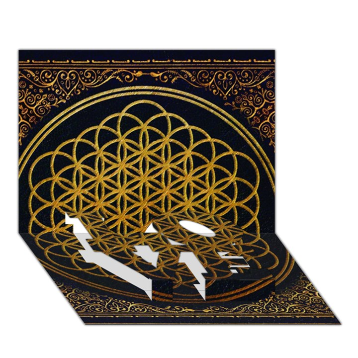 Bring Me The Horizon Cover Album Gold LOVE Bottom 3D Greeting Card (7x5)