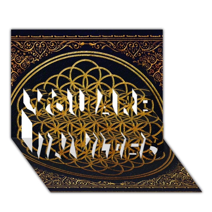 Bring Me The Horizon Cover Album Gold YOU ARE INVITED 3D Greeting Card (7x5)