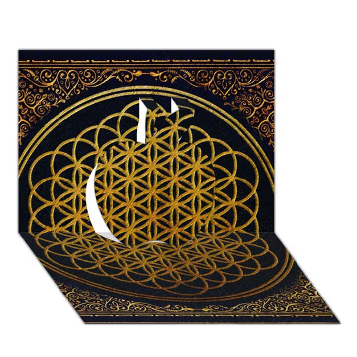 Bring Me The Horizon Cover Album Gold Apple 3D Greeting Card (7x5)