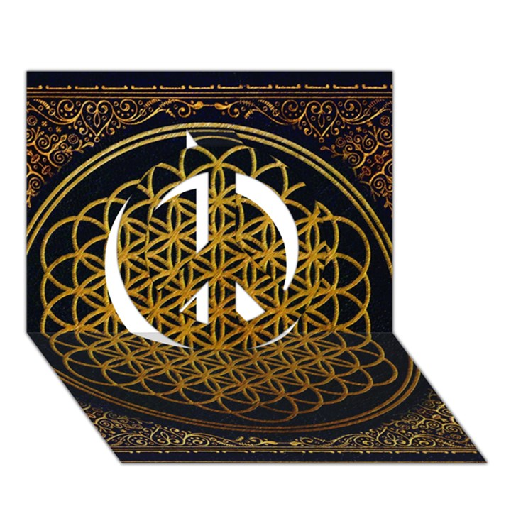 Bring Me The Horizon Cover Album Gold Peace Sign 3D Greeting Card (7x5)
