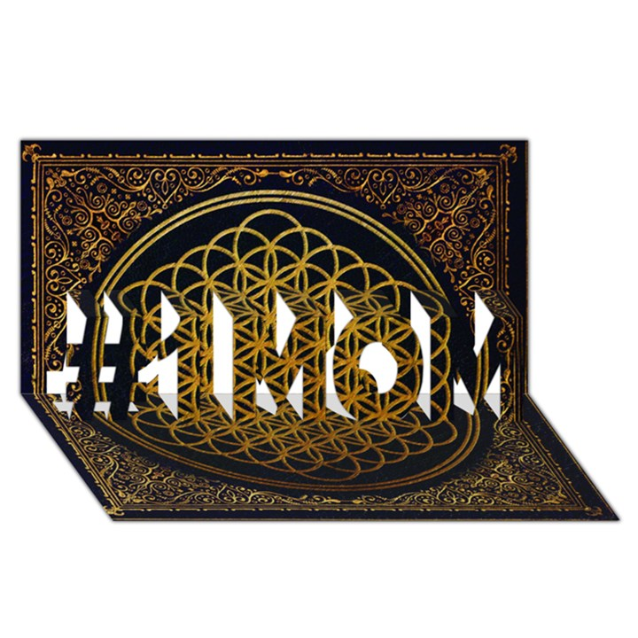 Bring Me The Horizon Cover Album Gold #1 MOM 3D Greeting Cards (8x4)