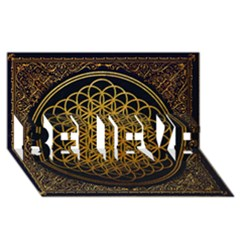 Bring Me The Horizon Cover Album Gold BELIEVE 3D Greeting Card (8x4)