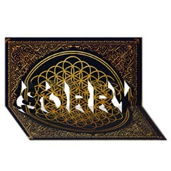 Bring Me The Horizon Cover Album Gold Sorry 3d Greeting Card (8x4)