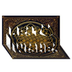 Bring Me The Horizon Cover Album Gold Best Wish 3D Greeting Card (8x4)