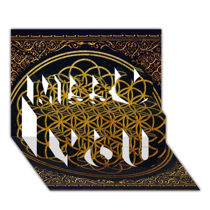 Bring Me The Horizon Cover Album Gold Miss You 3D Greeting Card (7x5)