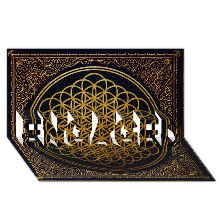 Bring Me The Horizon Cover Album Gold ENGAGED 3D Greeting Card (8x4)