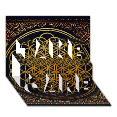 Bring Me The Horizon Cover Album Gold TAKE CARE 3D Greeting Card (7x5)