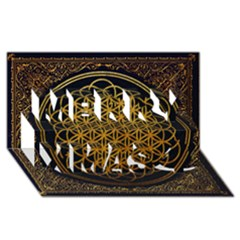 Bring Me The Horizon Cover Album Gold Merry Xmas 3D Greeting Card (8x4)