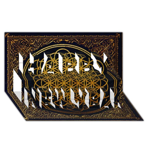 Bring Me The Horizon Cover Album Gold Happy New Year 3D Greeting Card (8x4)
