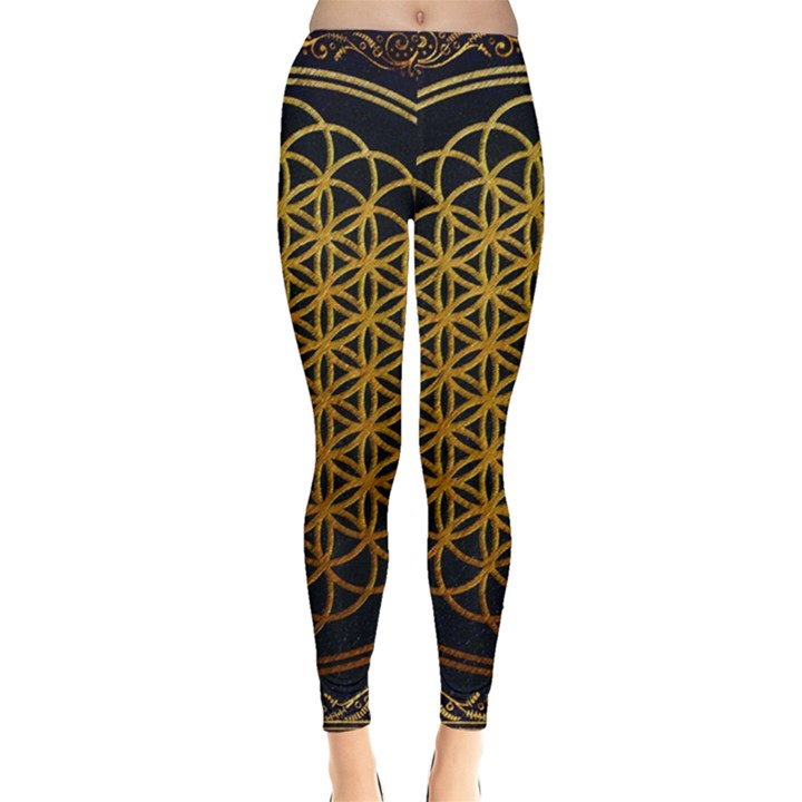 Bring Me The Horizon Cover Album Gold Leggings