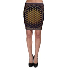 Bring Me The Horizon Cover Album Gold Bodycon Skirt