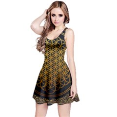 Bring Me The Horizon Cover Album Gold Reversible Sleeveless Dress