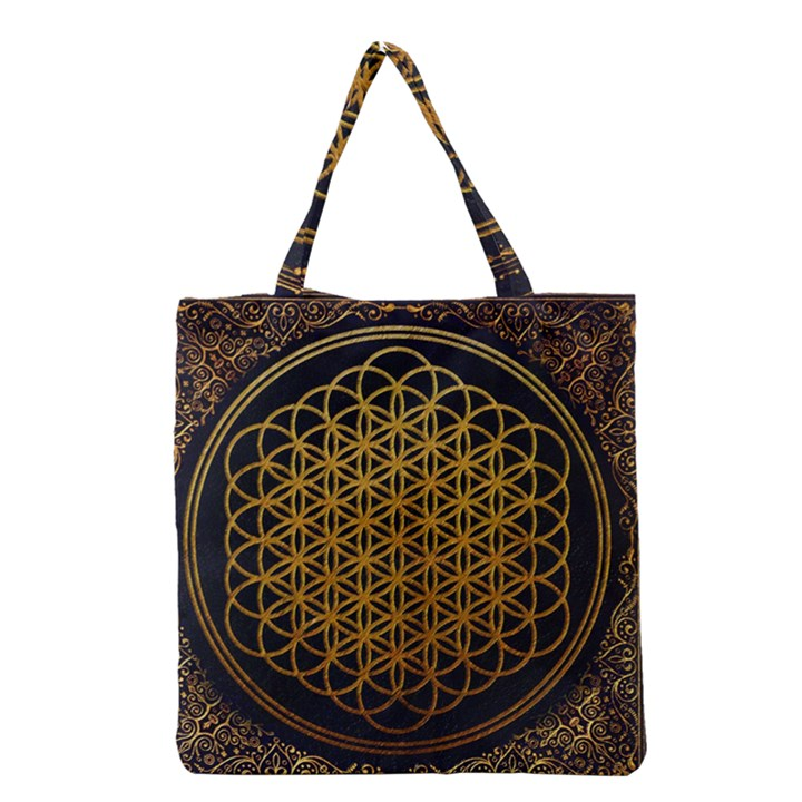 Bring Me The Horizon Cover Album Gold Grocery Tote Bag