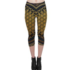 Bring Me The Horizon Cover Album Gold Capri Leggings