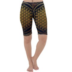Bring Me The Horizon Cover Album Gold Cropped Leggings