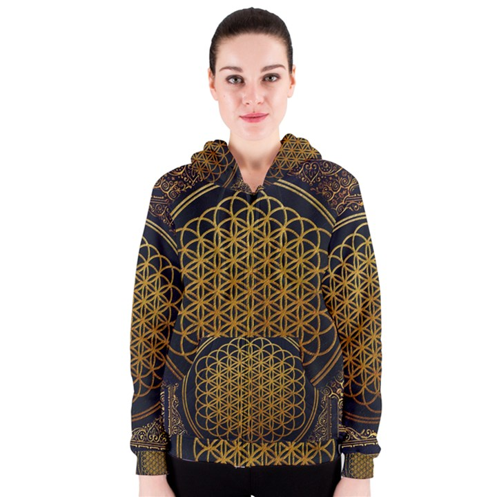 Bring Me The Horizon Cover Album Gold Women s Zipper Hoodie