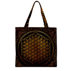 Bring Me The Horizon Cover Album Gold Zipper Grocery Tote Bag