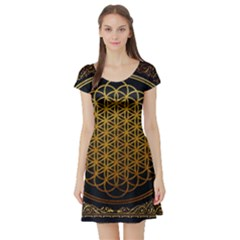 Bring Me The Horizon Cover Album Gold Short Sleeve Skater Dress
