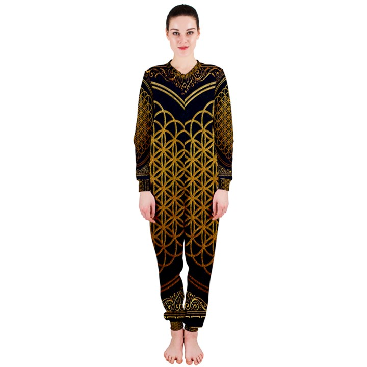Bring Me The Horizon Cover Album Gold OnePiece Jumpsuit (Ladies)
