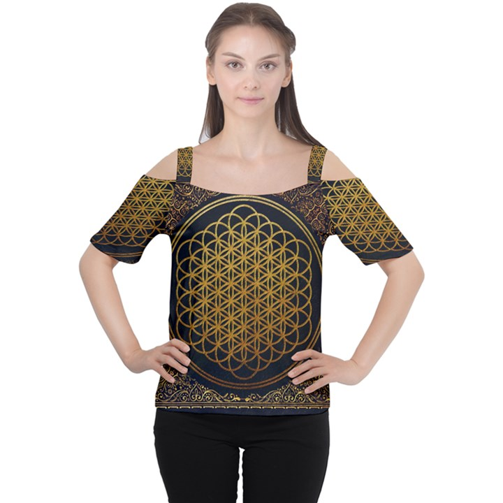 Bring Me The Horizon Cover Album Gold Women s Cutout Shoulder Tee