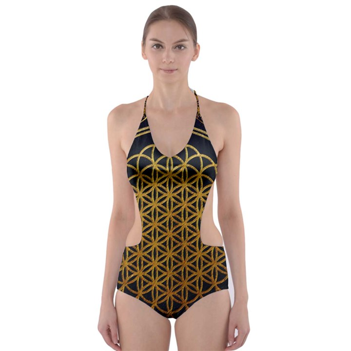 Bring Me The Horizon Cover Album Gold Cut-Out One Piece Swimsuit