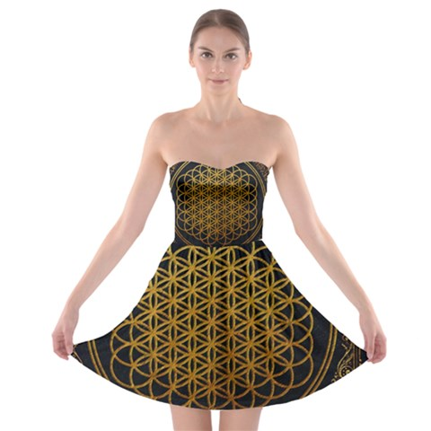 Bring Me The Horizon Cover Album Gold Strapless Bra Top Dress