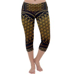 Bring Me The Horizon Cover Album Gold Capri Yoga Leggings