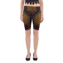 Bring Me The Horizon Cover Album Gold Yoga Cropped Leggings