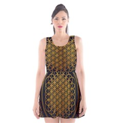 Bring Me The Horizon Cover Album Gold Scoop Neck Skater Dress
