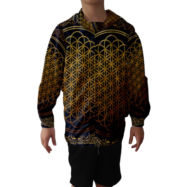 Bring Me The Horizon Cover Album Gold Hooded Wind Breaker (Kids)