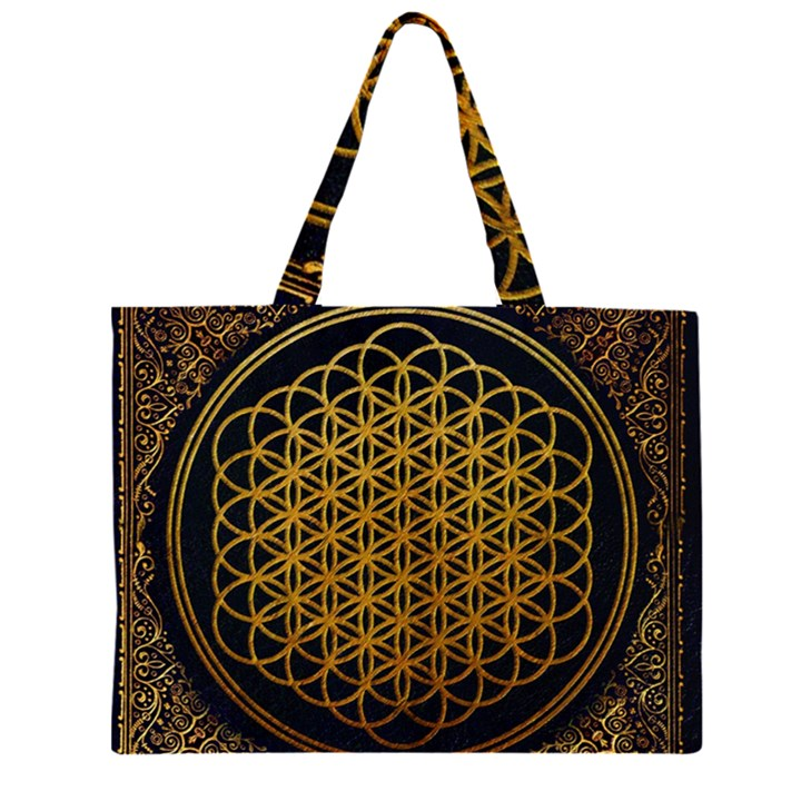 Bring Me The Horizon Cover Album Gold Large Tote Bag
