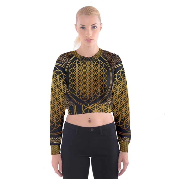 Bring Me The Horizon Cover Album Gold Women s Cropped Sweatshirt