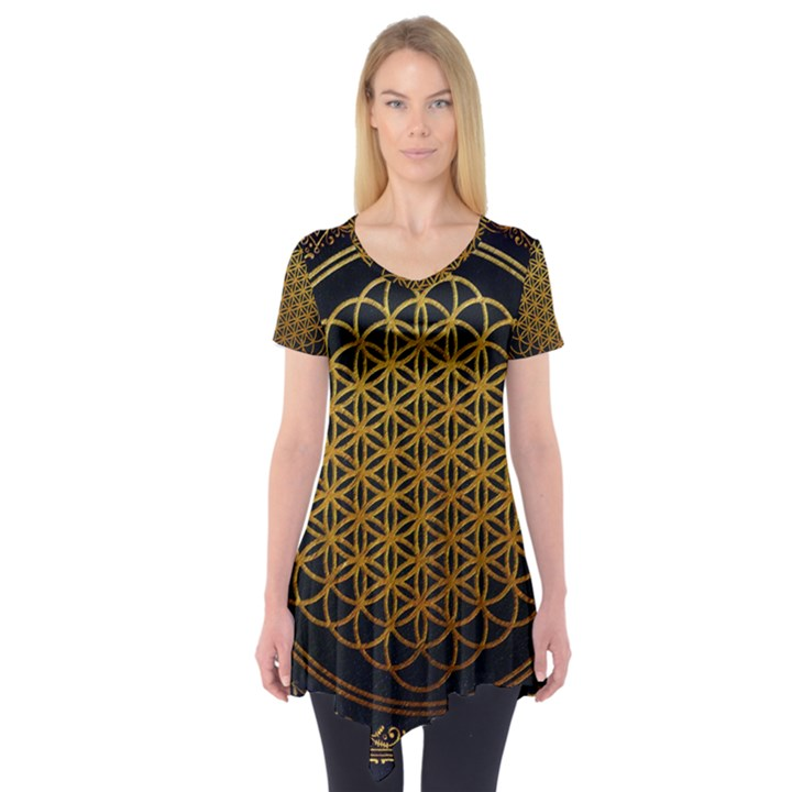Bring Me The Horizon Cover Album Gold Short Sleeve Tunic