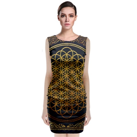 Bring Me The Horizon Cover Album Gold Classic Sleeveless Midi Dress
