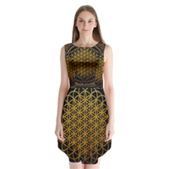 Bring Me The Horizon Cover Album Gold Sleeveless Chiffon Dress