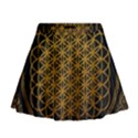 Bring Me The Horizon Cover Album Gold Mini Flare Skirt View1