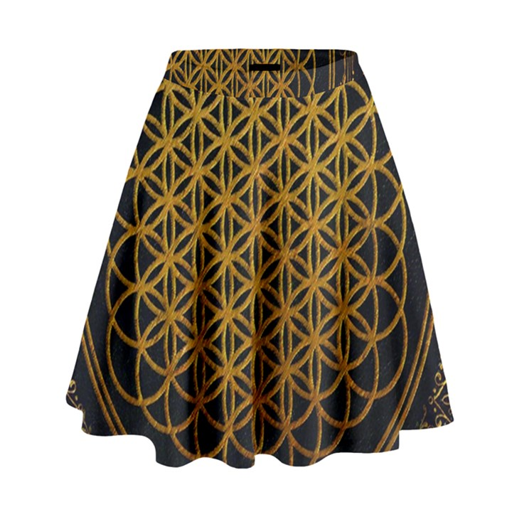 Bring Me The Horizon Cover Album Gold High Waist Skirt
