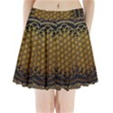 Bring Me The Horizon Cover Album Gold Pleated Mini Skirt View1