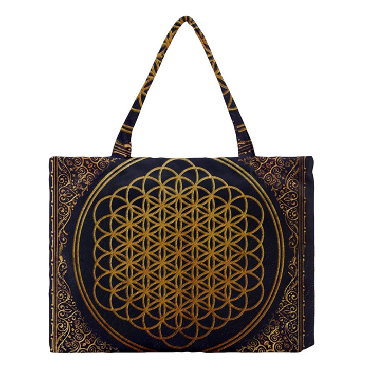 Bring Me The Horizon Cover Album Gold Medium Tote Bag