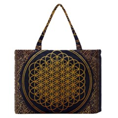 Bring Me The Horizon Cover Album Gold Medium Zipper Tote Bag