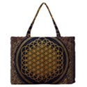 Bring Me The Horizon Cover Album Gold Medium Zipper Tote Bag View1