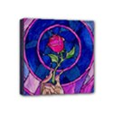 Enchanted Rose Stained Glass Mini Canvas 4  x 4  View1