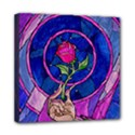 Enchanted Rose Stained Glass Mini Canvas 8  x 8  View1