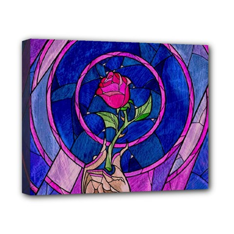 Enchanted Rose Stained Glass Canvas 10  x 8