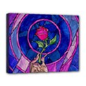 Enchanted Rose Stained Glass Canvas 14  x 11  View1